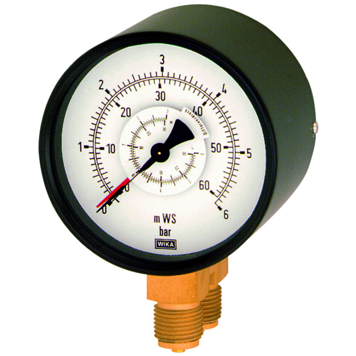 differential pressure gauges with parallel pin connection
