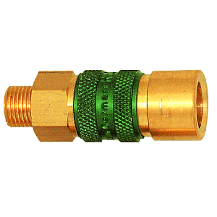 Non-interchangeable, quick-lock couplings
