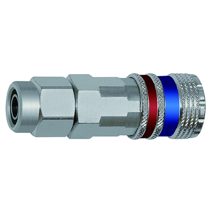 Safety couplings DN 7.6, Steel, zinc-plated brass