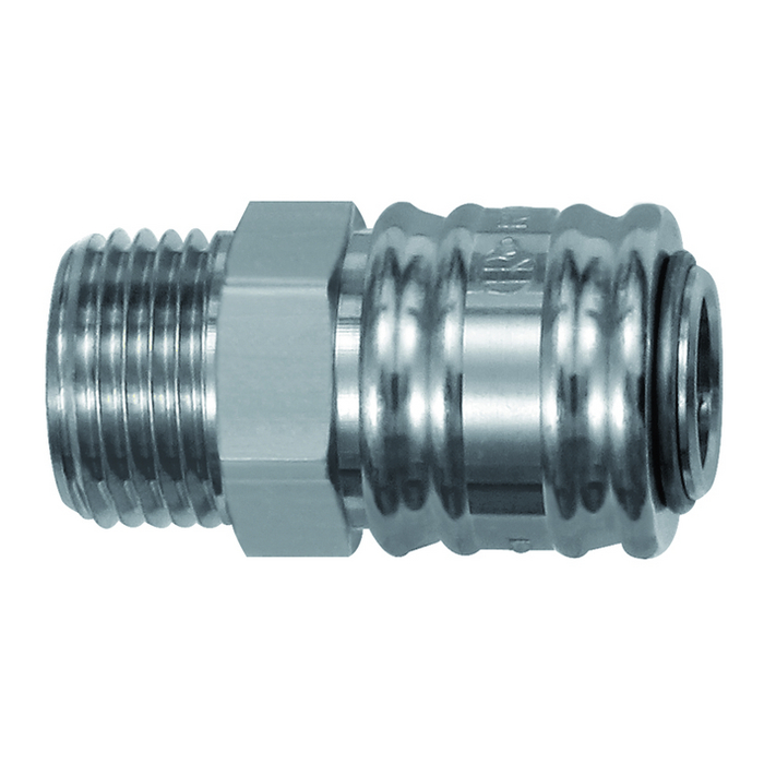 One-hand quick-lock couplings, shut-off at one end DN 7.2