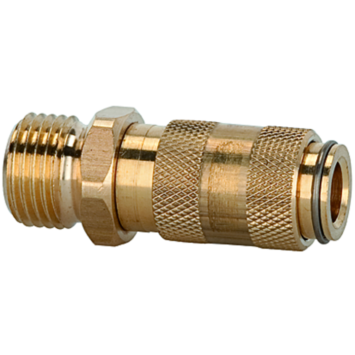 One-hand quick-lock couplings, shut-off at one end DN 2.7