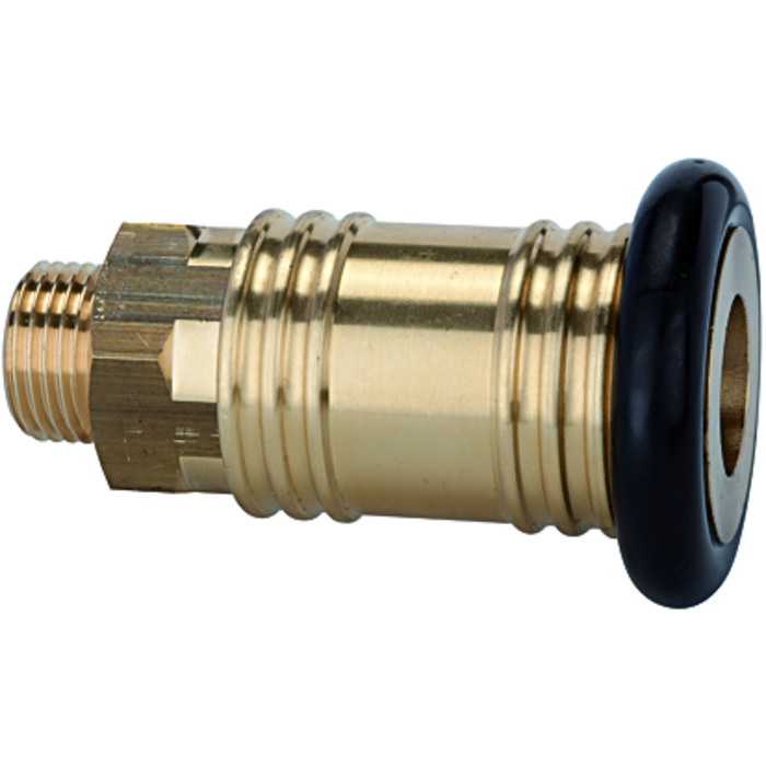 One-hand quick-lock couplings, shut-off at one end DN 12
