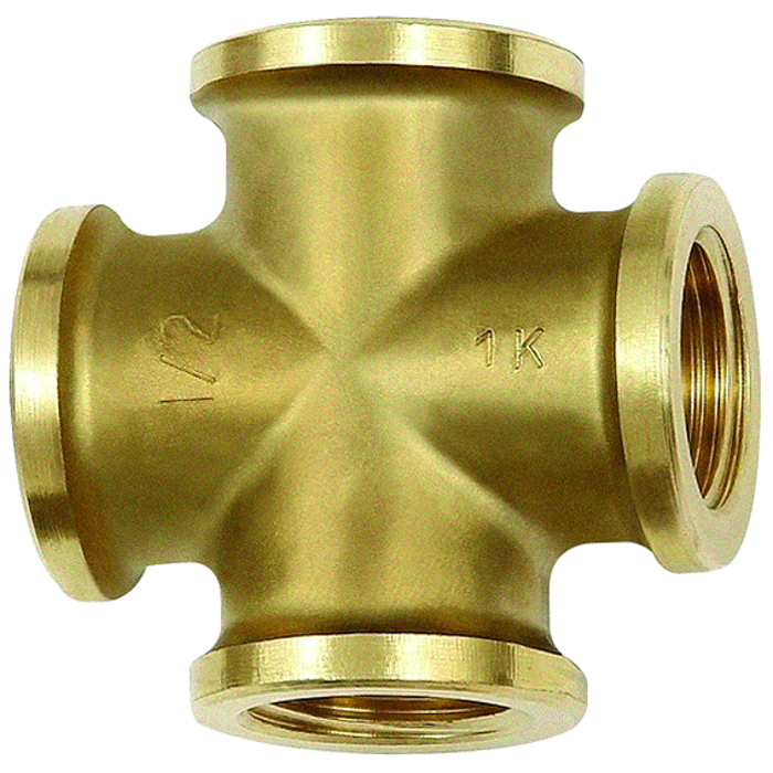 Fittings »-Brass with a bare metal surface « - lower pressure