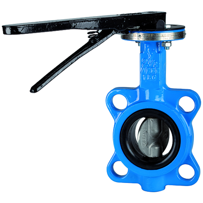 Butterfly valves - With hand lever