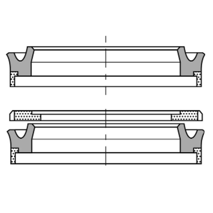 Piston groove rings type RSE-W, RSE-W-AR