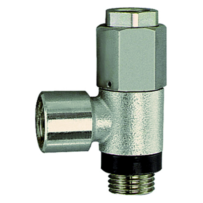 Unidirectional banjo valves