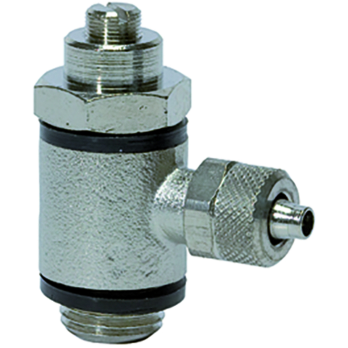 Flow control valves slotted screw V
