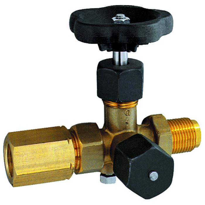 Pressure gauge valves