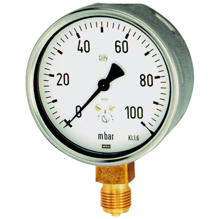 Pressure gauges for measuring pressure in millibars