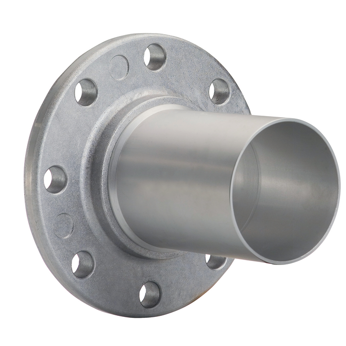 Pipe flange, fastening material and accessories