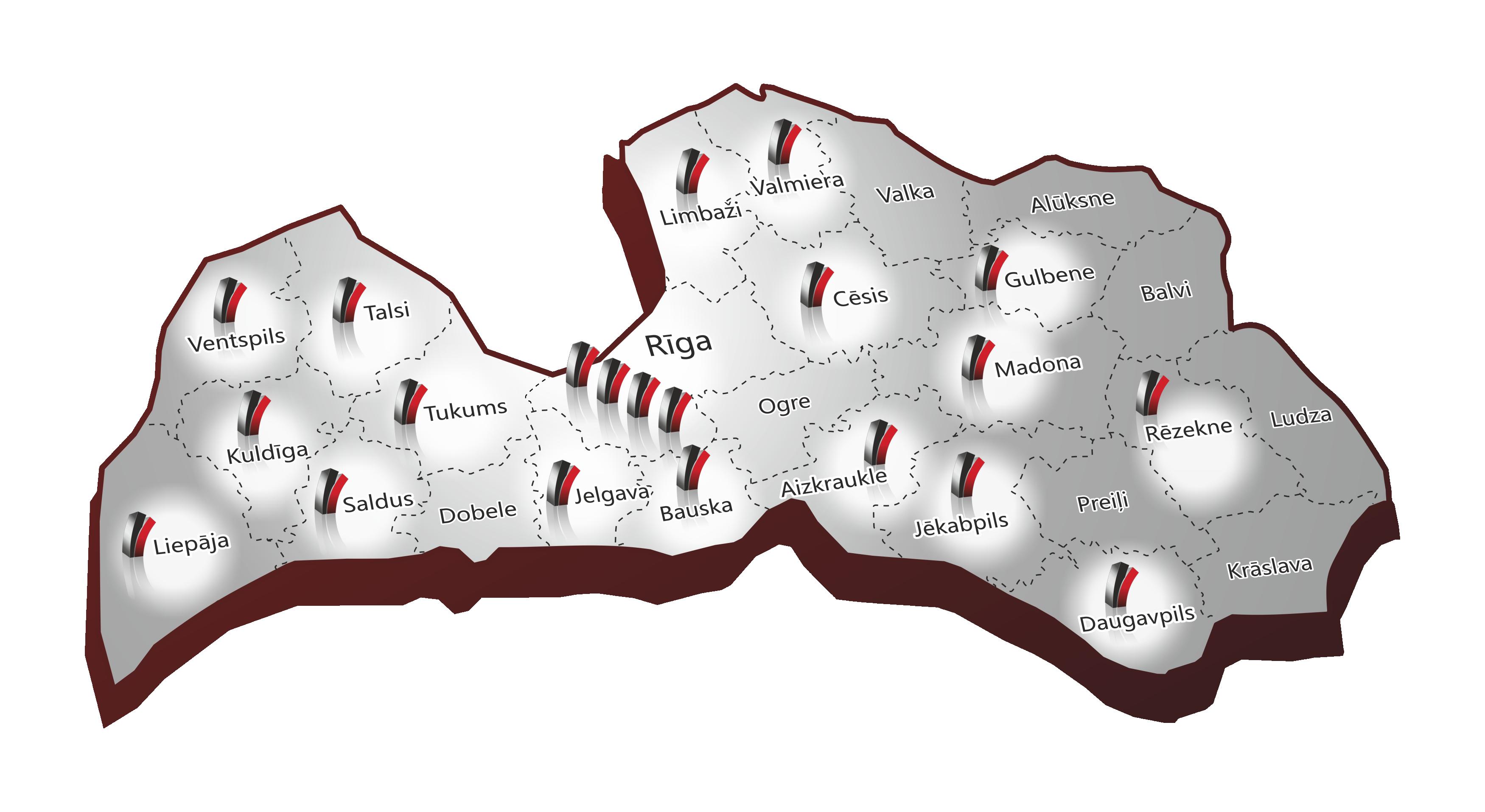 Hansa Flex tīkls Latvijā